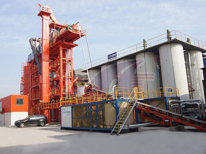 苏州龙跃10吨移动一体式改性沥青设备